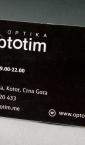 """Vizit karte, ofset štampa u jednoj boji """"Optotim"""" (Crna gora)"""