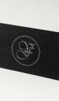 "Luksuzne vizit kartice ""Valentina Feher"" (2) / specijalni crni reljefni papir, srebrna ofset štampa, obostrano"