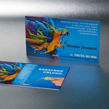 """Vizit karte, pun kolor obostrano, digitalna štampa """"Zanatske usluge"""""""