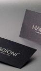 """Vizit karte na specijalnom metaliziranom papiru sa zlatotiskom (srebrnom folijom) """"Magioni"""""""