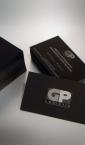 Vizit karte sa zlatotiskom GP Logistic (folijatisak) na rebrastom papiru