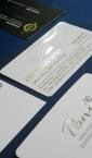 Vizit karte sa zlatotiskom (termografijom, folijatiskom), i separatnim UV-lakiranjem