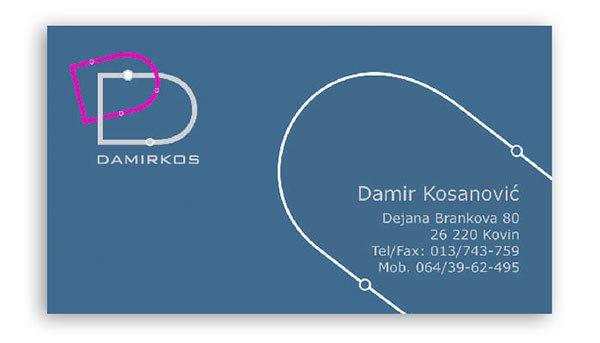 vizit karte / standardne / Damirkos