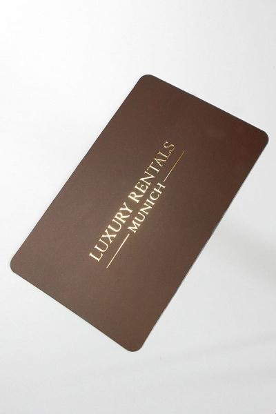 "vizit karte ""Luxury Rentals - Munich"" Nemačka (zlatotisak)"