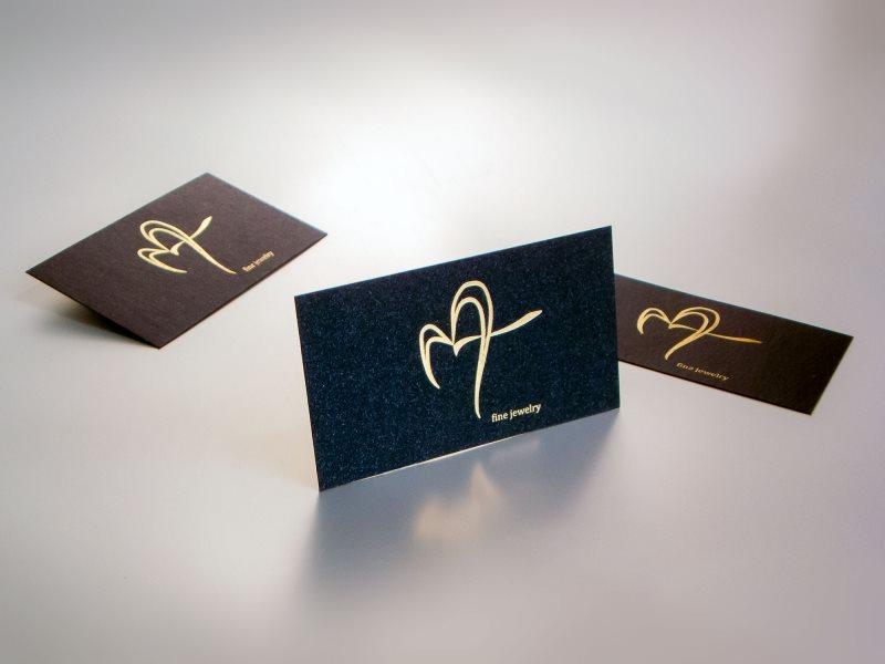 Vizit karte sa zlatotiskom Jewelry (folijatisak) na standardnom papiru