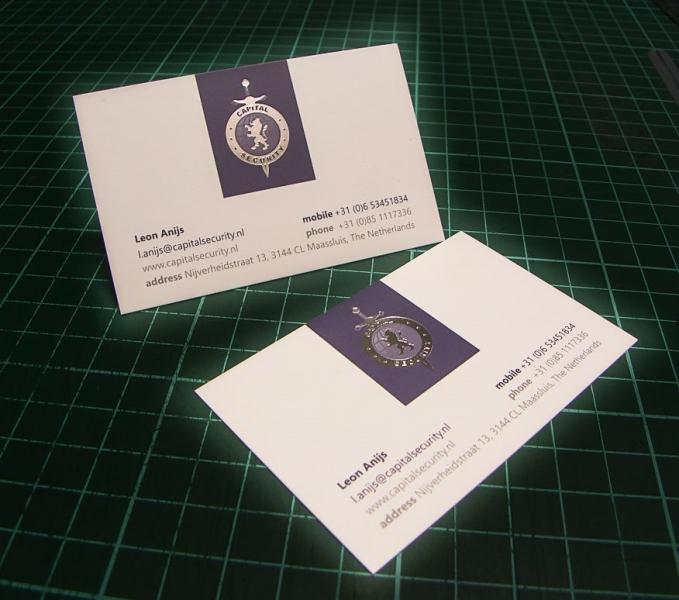Vizit karte sa zlatotiskom (folijatiskom) na standardnom papiru