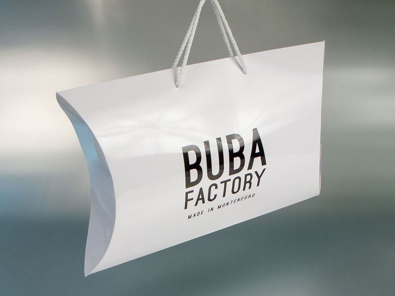"pillow box ""Buba Factory"" Montenegro"