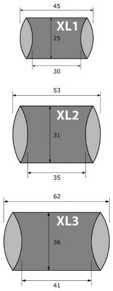 XL pillow box tabela
