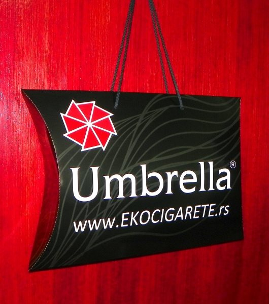 "XL pillow box ""Umbrela"" (ekocigarete)"