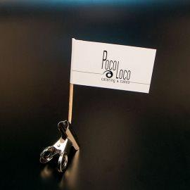 """Zastavice na čačkalicama """"Poco Loco"""" (logo)"""