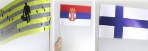 zastavice od papira, Srbija