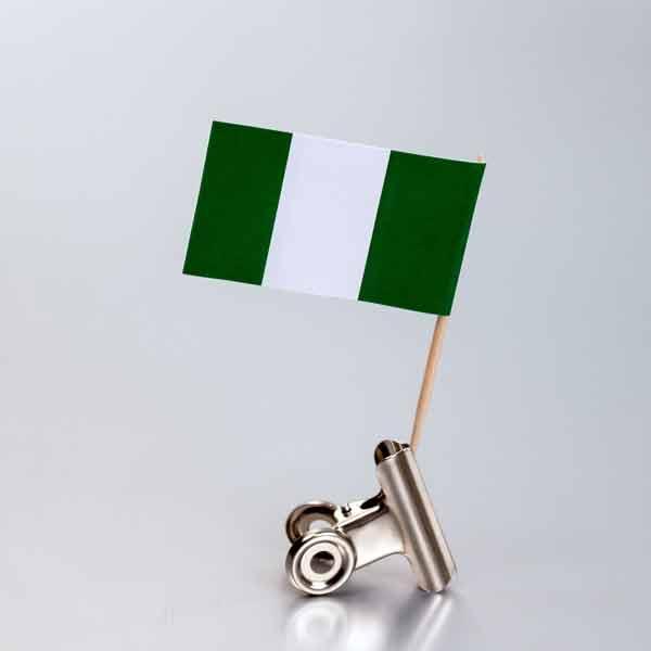 zastavica na čačkalici - nigerija