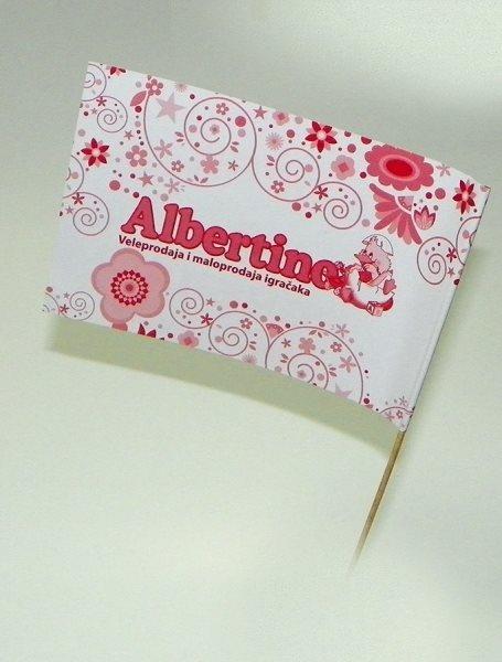 zastavice od papira, Albertino