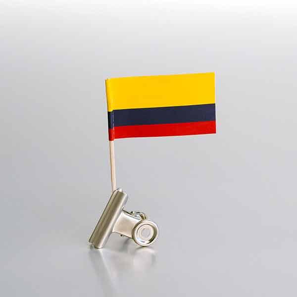 Zastavice na čačkalicama / Kolumbija