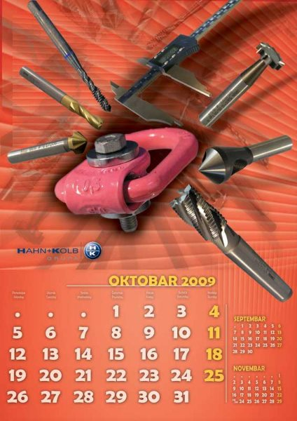 Zidni kalendari Hahn+ Kolb 05