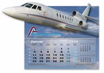 """štancovani zidni kalendar """"Avio služba vlade Srbije"""""""
