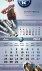 Poslovni zidni kalendari - Hahn+Kolb - trodelni kolor 2010