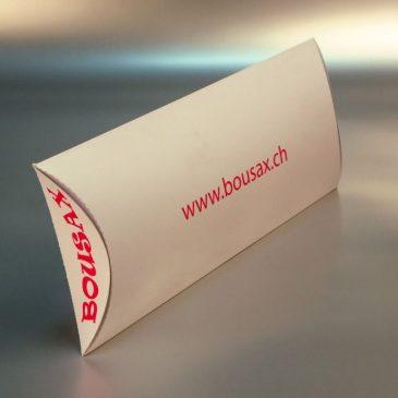 "Pillow box ""Bousax.ch"""