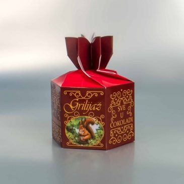 Šestougaone kutije za voće u čokoladi