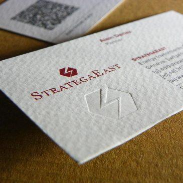 Luksuzne vizit karte: blindruk + fabriano + QR-code