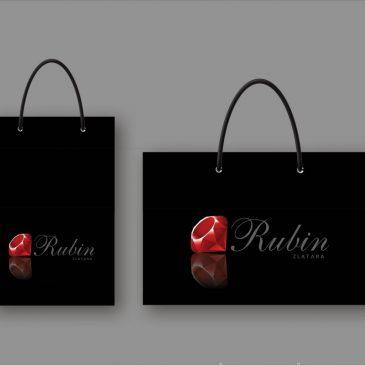 """Idejno rešenje luksuzne reklamne kese """"Rubin"""""""