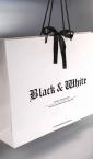 Dizajn - Luksuzna kesa sa dekorativnom mašnom (3D) / Black & White