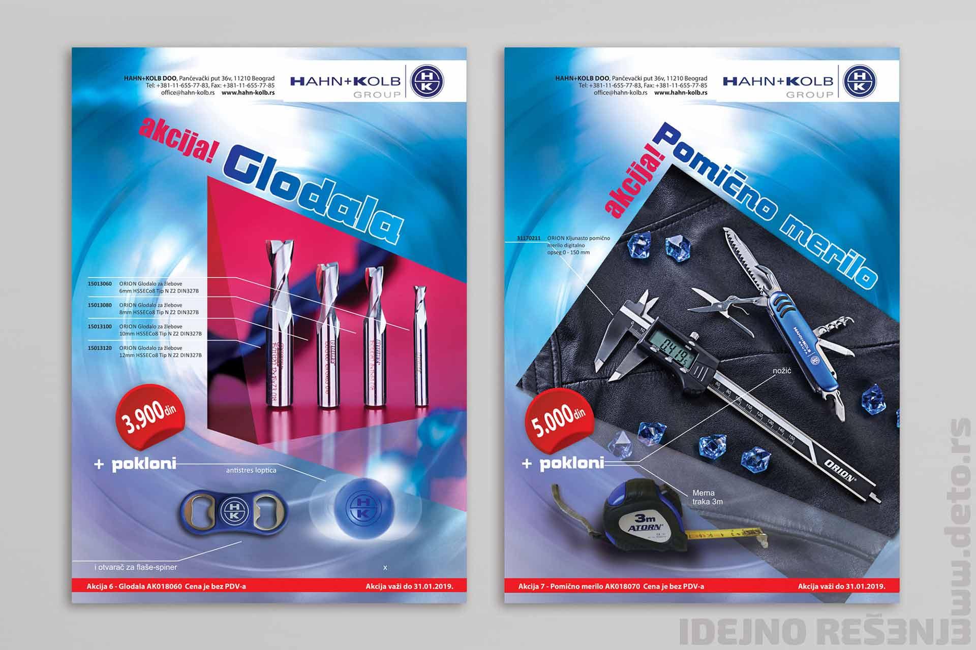 Dizajn - flajer A4 (4/4) za redovnu akciju / Hahn & Kolb