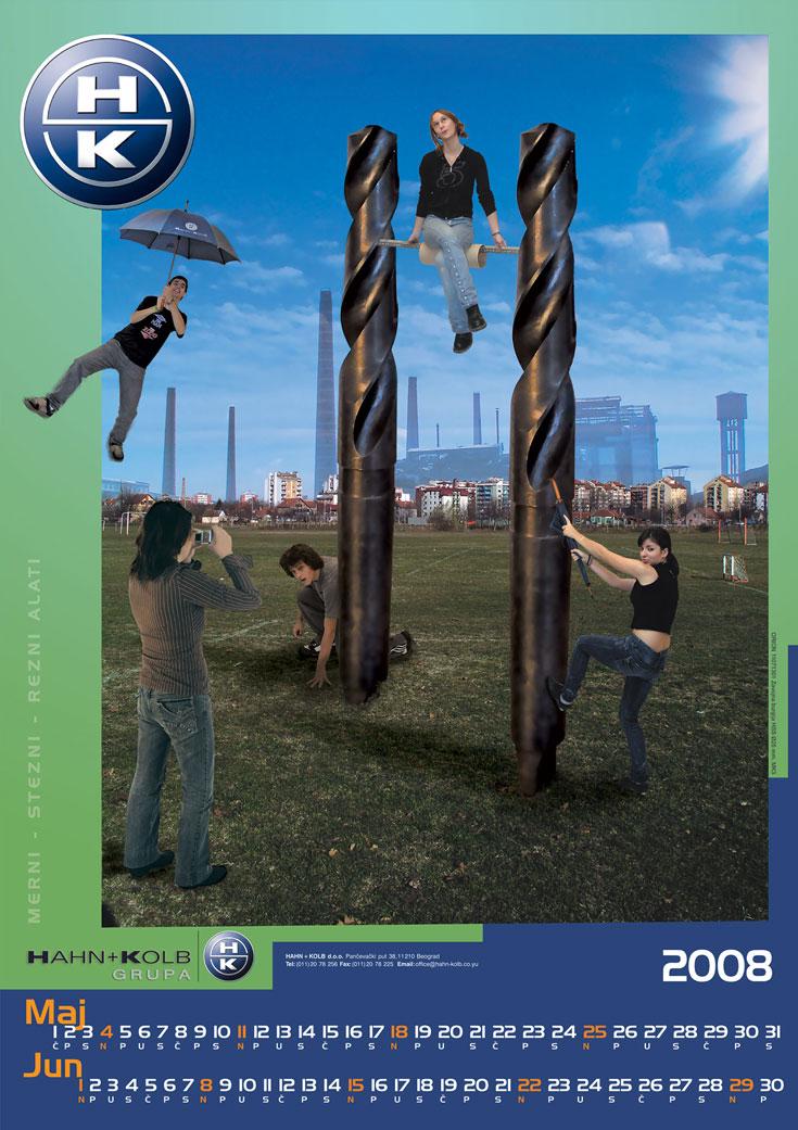 Dizajn - Hahn & Kolb kalendar za 2008. / Maj