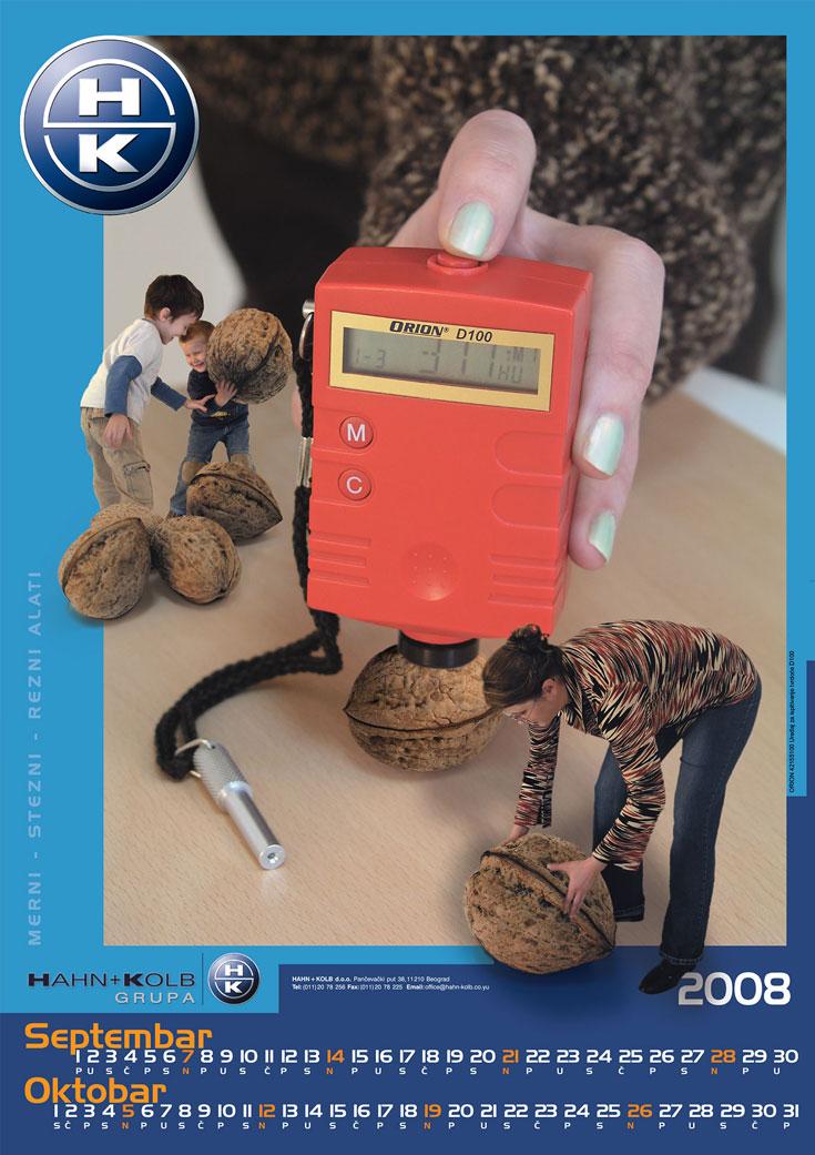 Dizajn - Hahn & Kolb kalendar za 2008. / Septembar