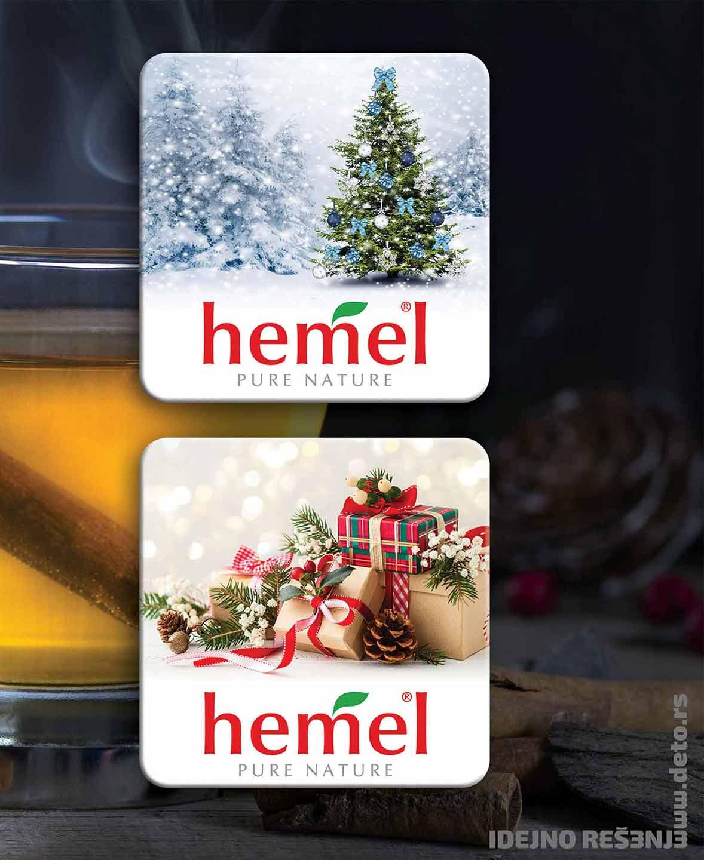 Dizajn - idejno rešenje kaširanih podmetača za čaše / Hemel