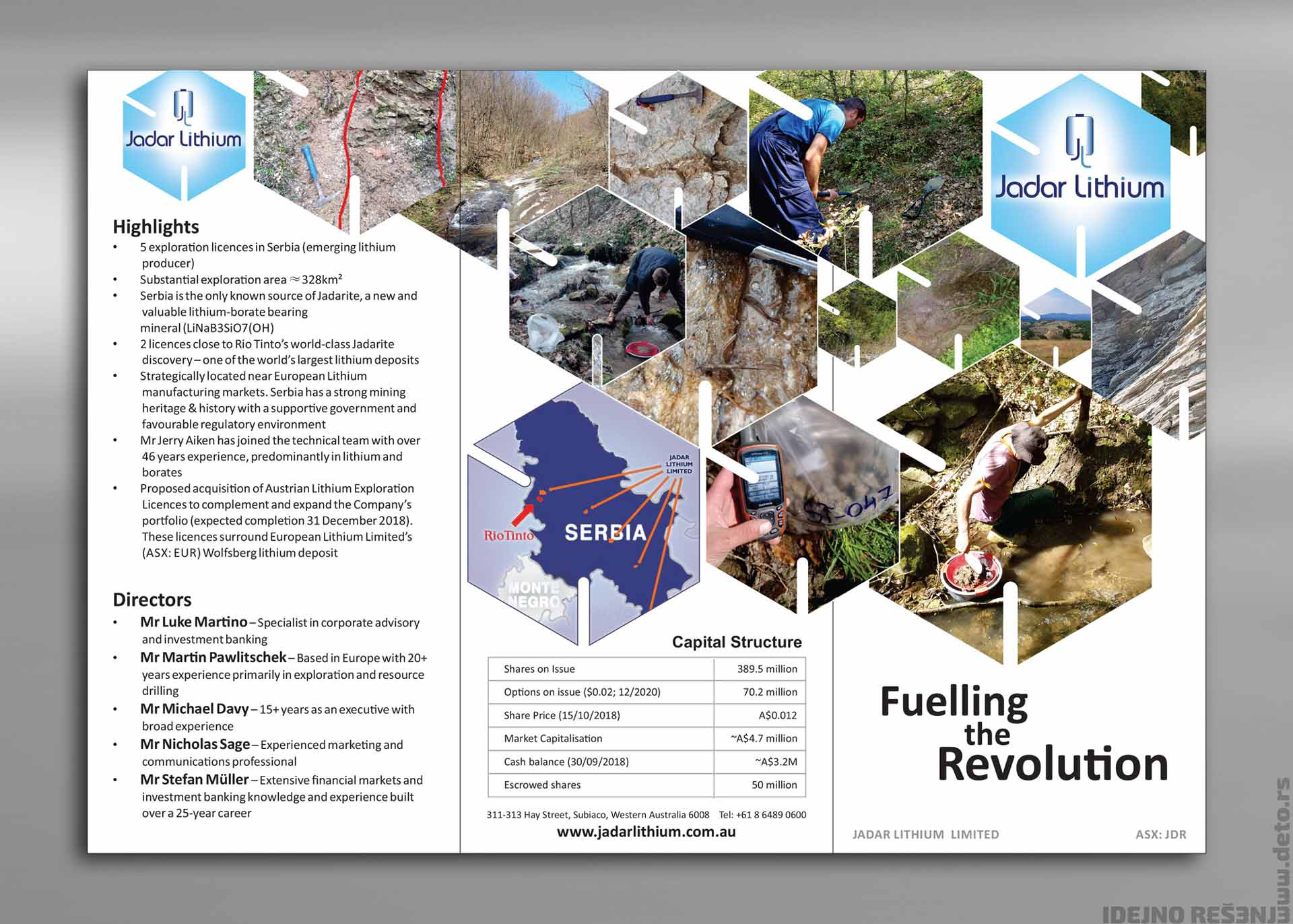 Dizajn - Idejno rešenje flajera A4   / Jadar Lithium (Australija)