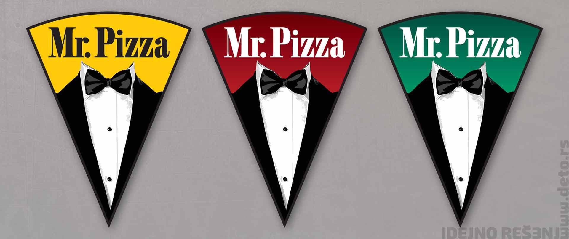 Dizajn -  Idejno rešenje, logo za piceriju / Mr. Pizza