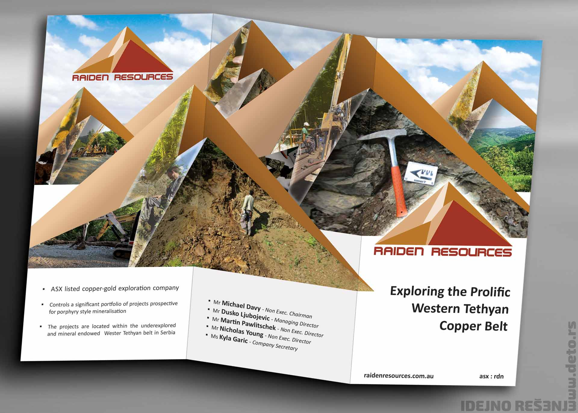 Dizajn - Idejno rešenje flajera A4 (a) / Raiden resources (Australija)