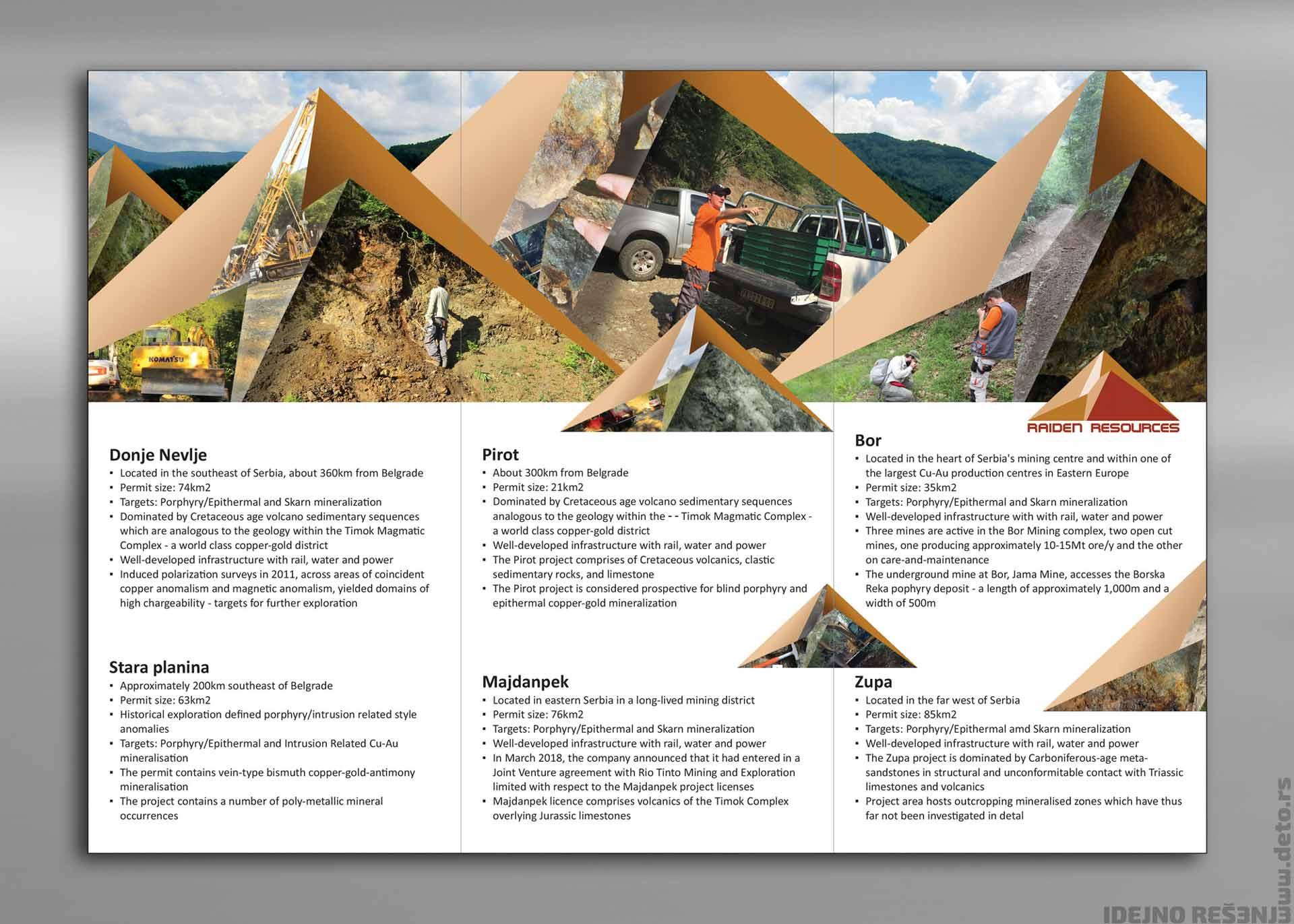 Dizajn - Idejno rešenje flajera A4 (b) / Raiden resources (Australija)