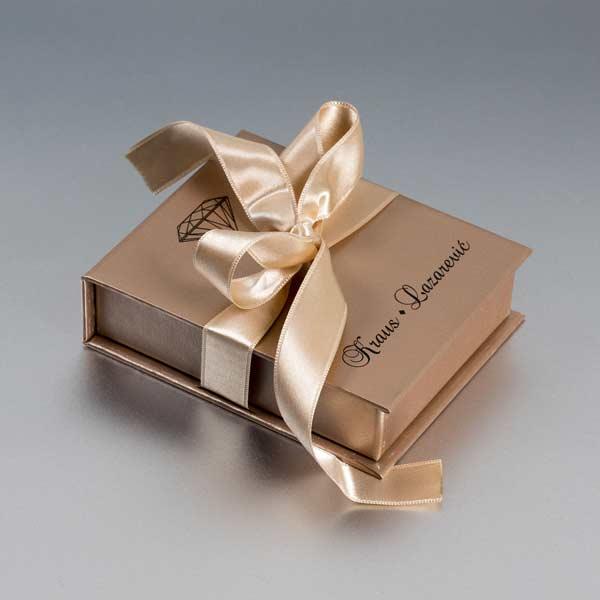 Luksuzna kaširana kutija sa satenskom trakom (veća 1) / Krauz -Lazarević